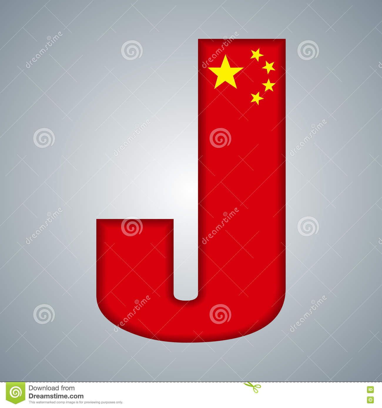 Download China Flag In The Form Of Letters Stock Vector