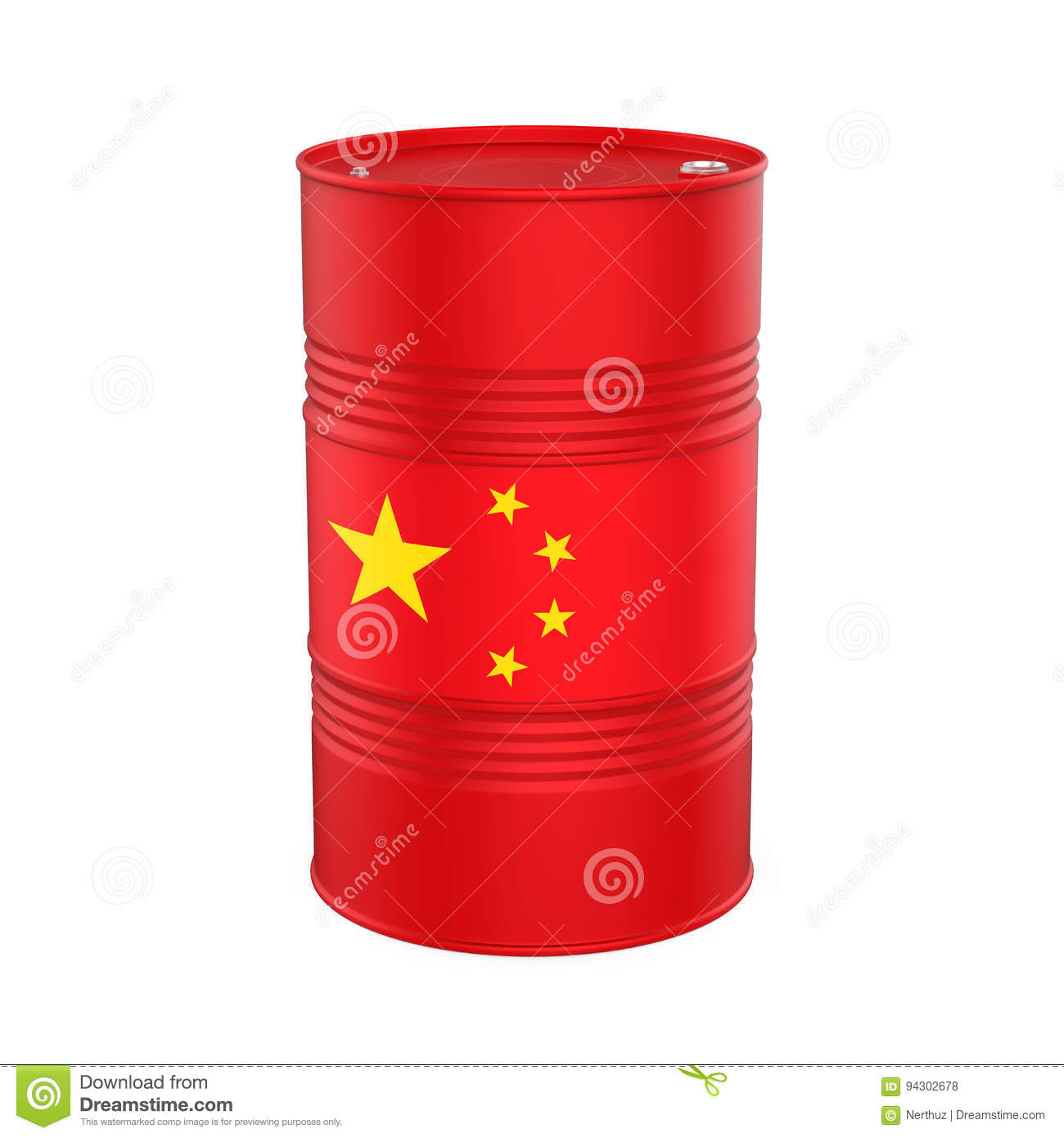 China Flag Oil Barrel