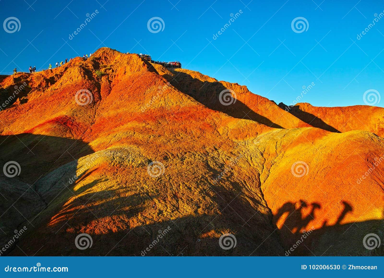 China Gansu Zhangye Danxia Geomorphic Geological Park