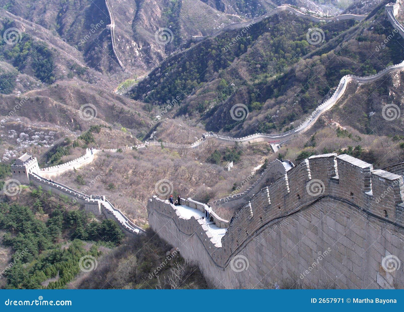 China hermosa, Gran Muralla