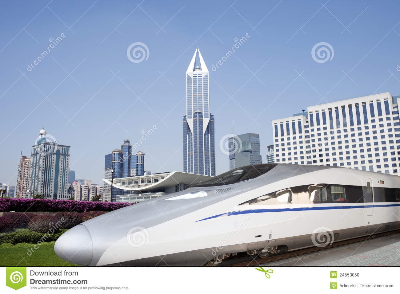 China High Speed Train At Shanghai Stock Photo - Image: 24553050