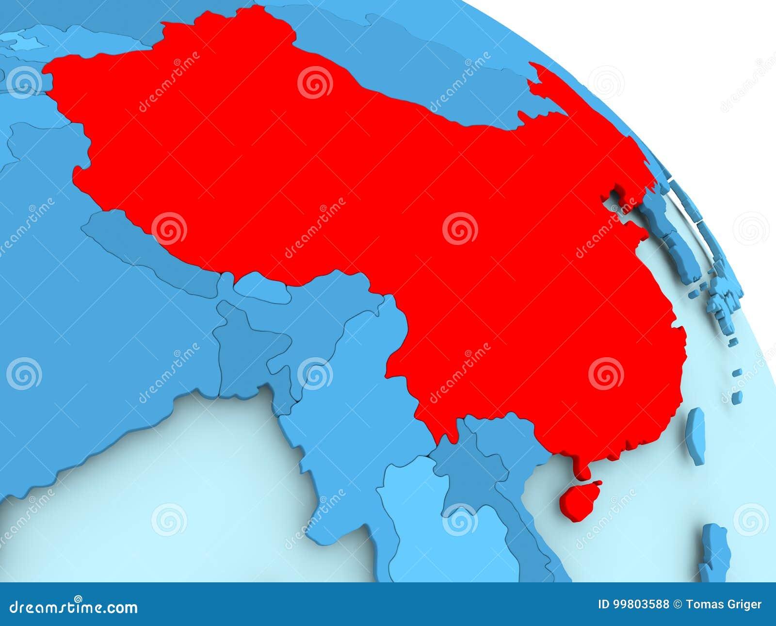 China on blue globe stock illustration illustration of world 99803588 china highlighted on blue 3d model of political globe 3d illustration gumiabroncs Choice Image