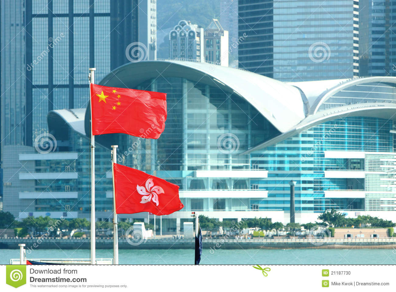 China & Hong Kong Flags
