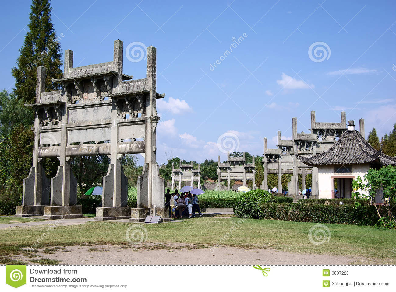 Huizhou China  city photo : China Huizhou Paifang Royalty Free Stock Photos Image: 3887228