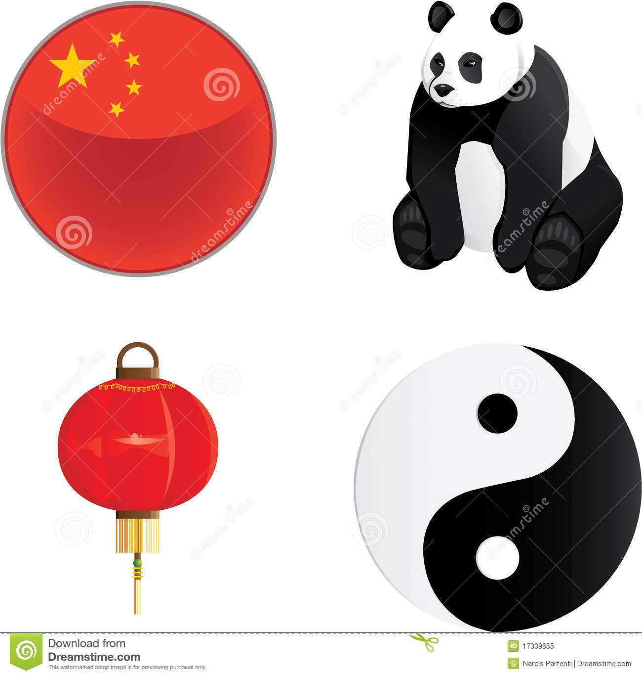 China Icons Stock Vector Illustration Of Panda Vector 17339655