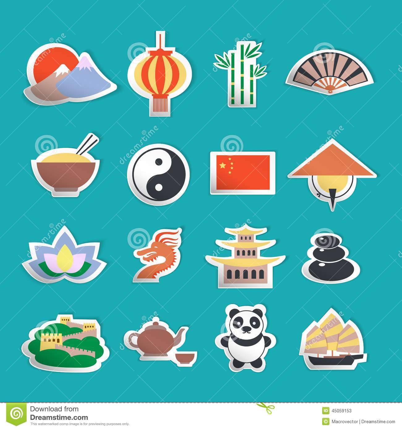 china icons stickers stock vector image 45059153 barcode clip art with name aaron barcode clipart free