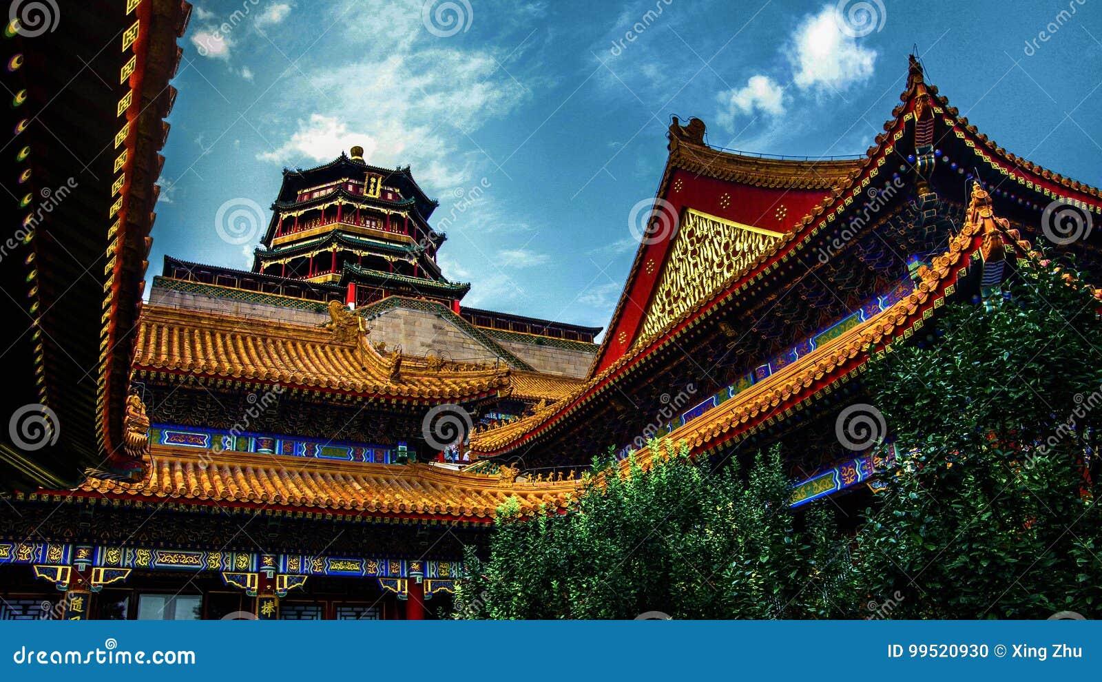 China imperial de Pekín del palacio de verano
