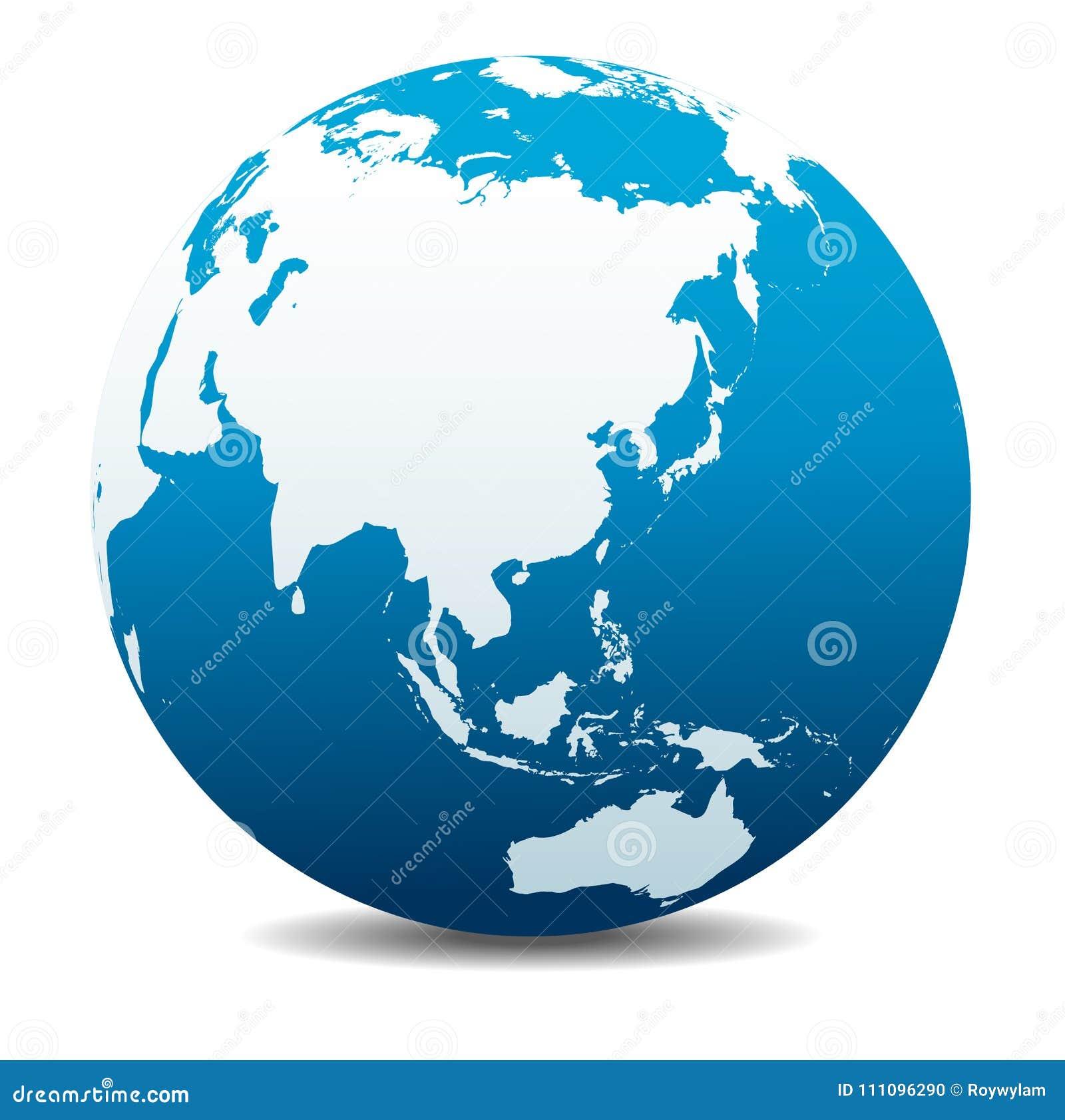 Thailand Karte Welt.China Japan Malaysia Thailand Indonesien Globale Welt Planeten