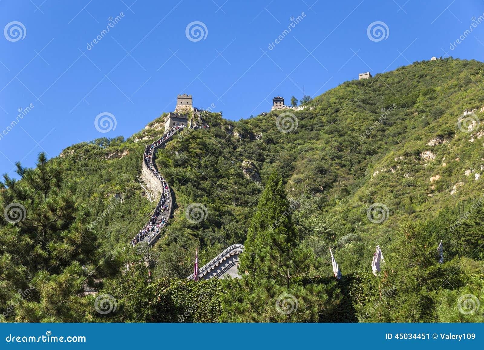 China, Juyongguan Sección de la montaña de la Gran Muralla de China
