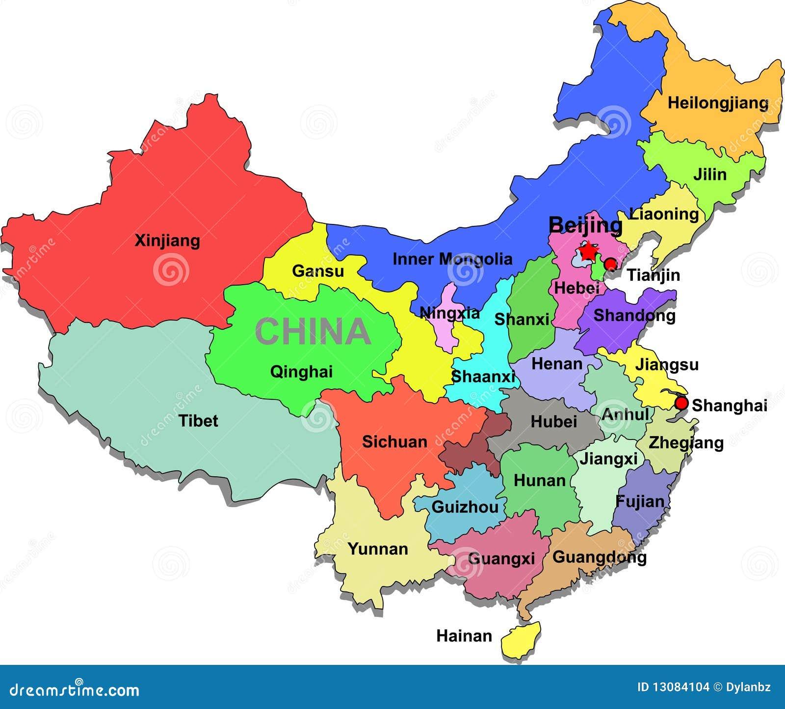 China Karte Vektor Abbildung Illustration Von Ubertragen 13084104