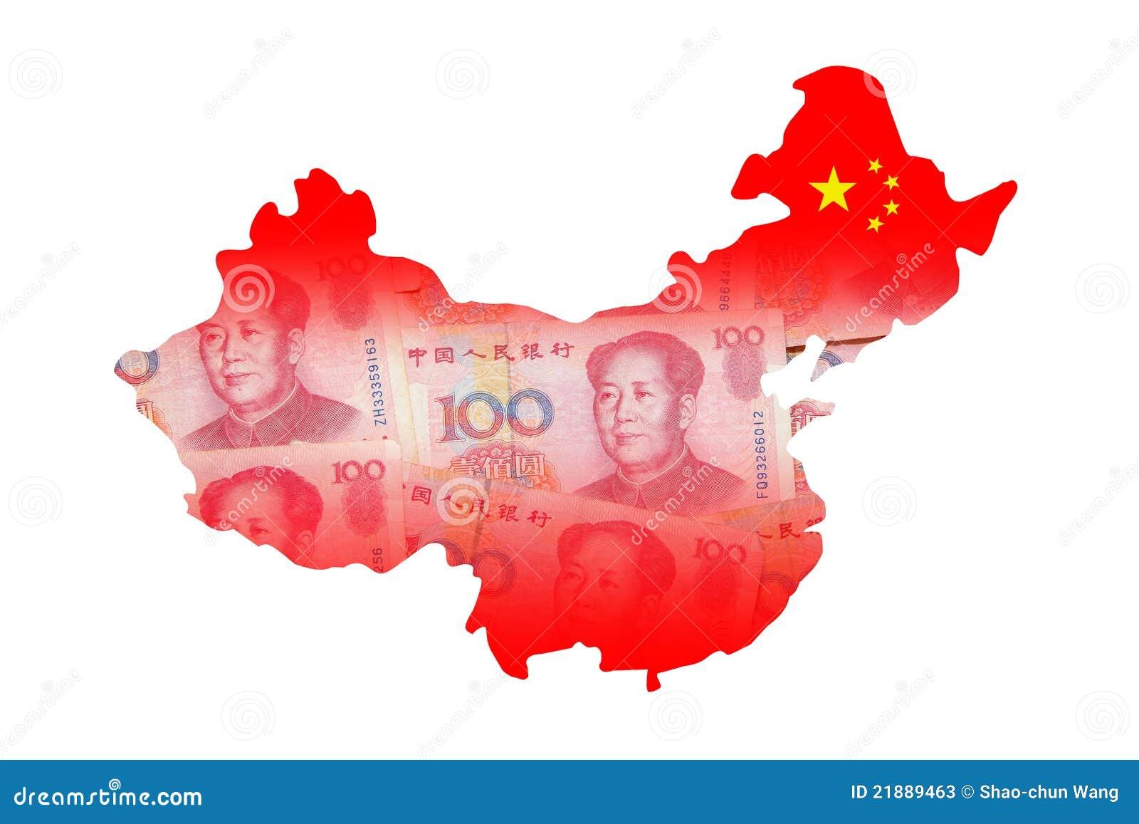 china karte gebildet durch chinesisches bargeld des geldes. Black Bedroom Furniture Sets. Home Design Ideas