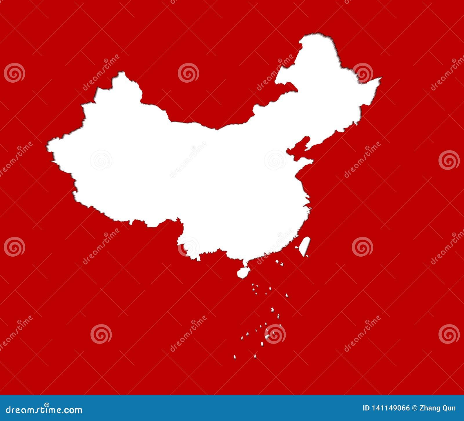 China-Kartenvektorillustration