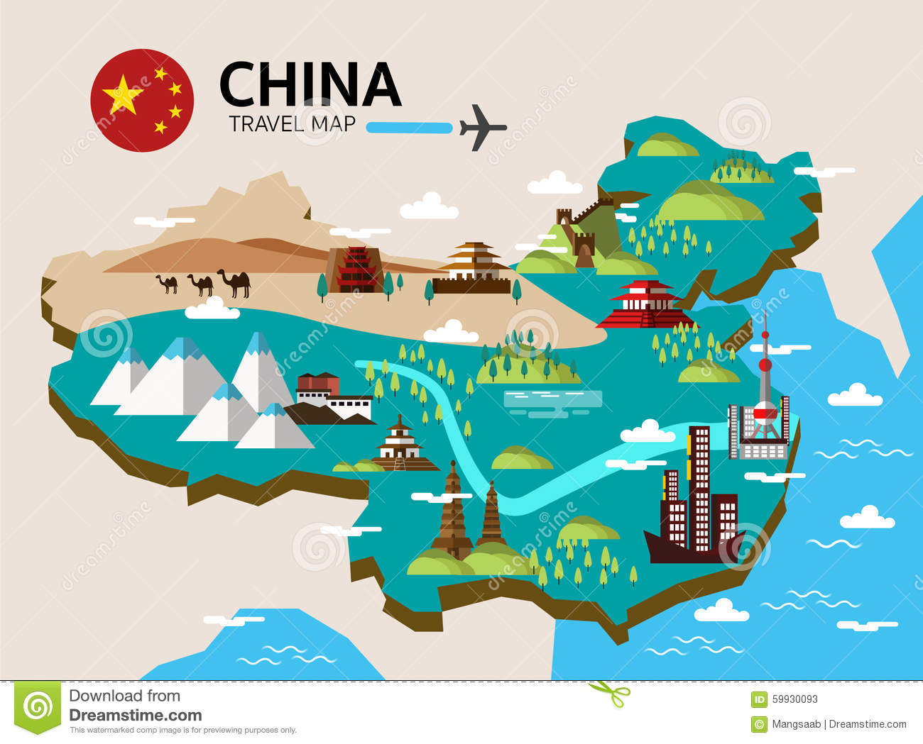 China Landmark And Travel Map. Stock Vector - Illustration ... on map art, map background, map making, map great britain, map of california and mexico, map app, map clipart, product illustration, map of victoria, map paper, map travel, map books, map of the south sewanee university, digital illustration, map cartoon, map of belfast and surrounding areas, map of spanish speaking world, map key, technical illustration, architectural illustration, medical illustration, map design, map of louisiana and mississippi, map infographic, map print,