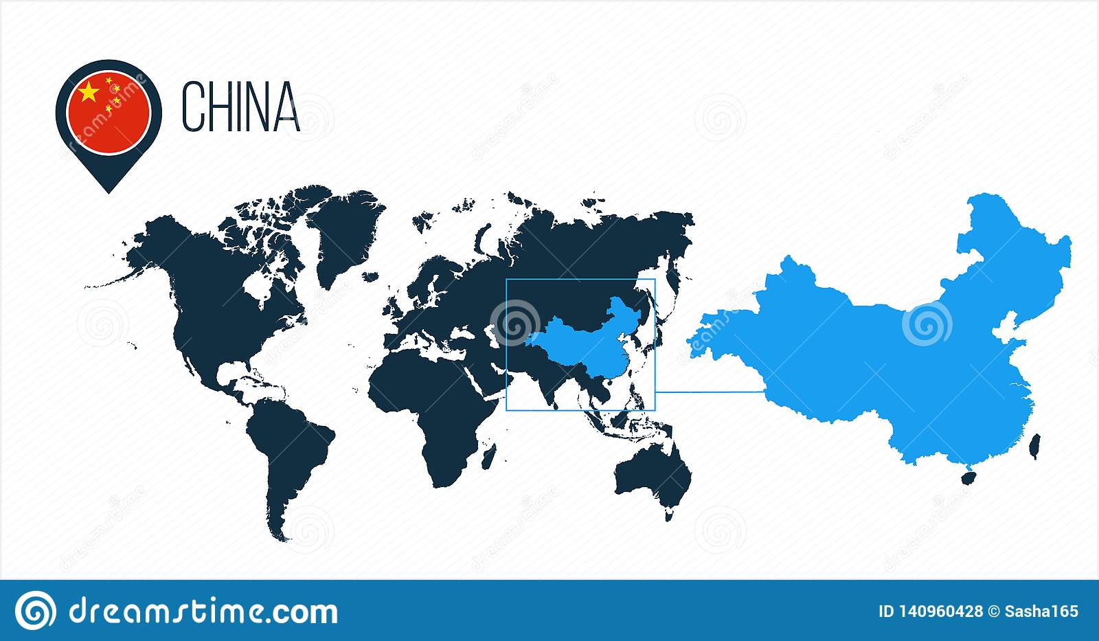 China On A Map on
