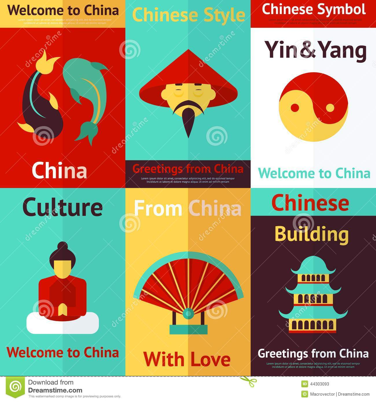 China Mini Posters Stock Vector Image 44303093