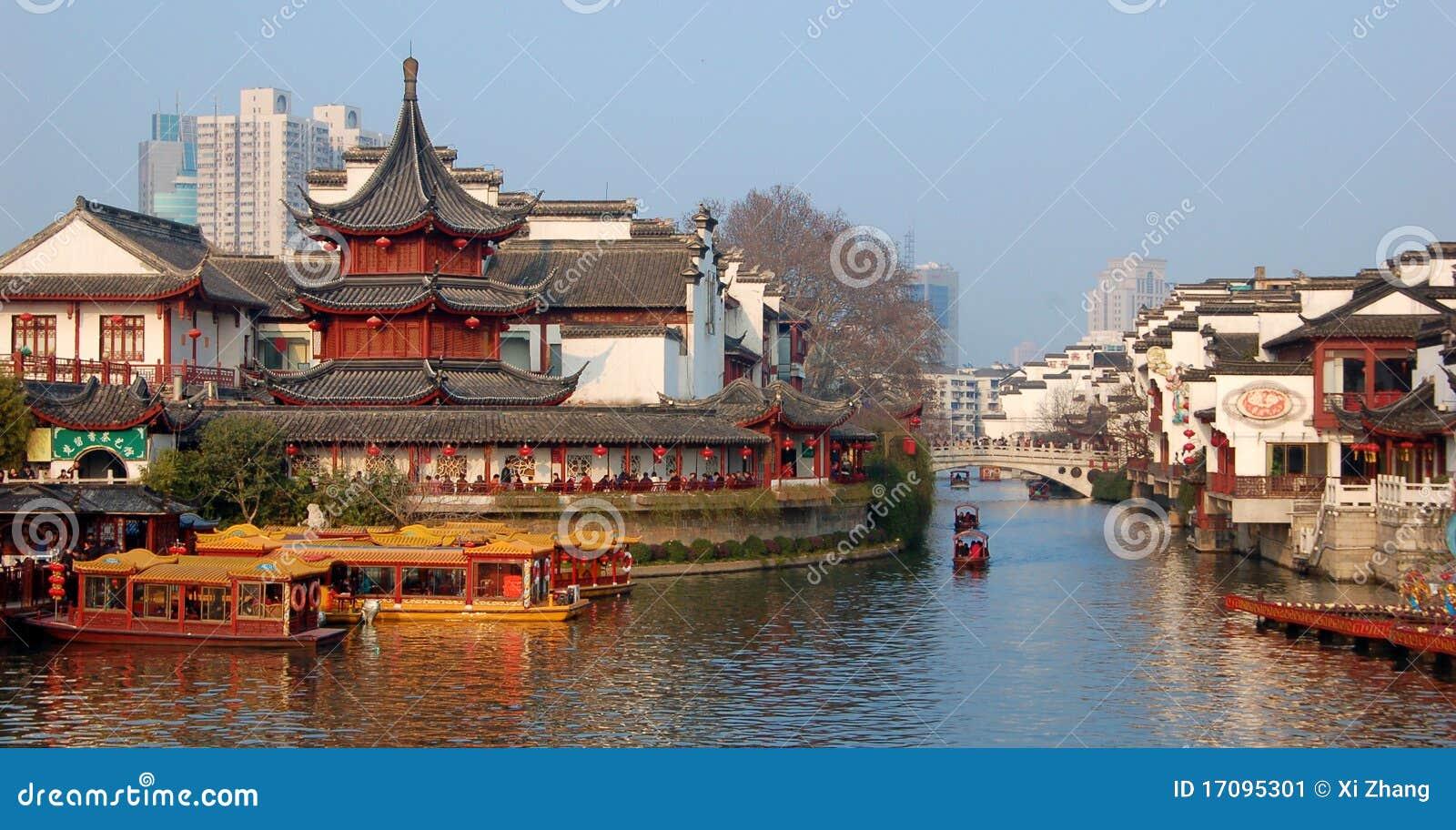 China-neues Jahr NanJing-Stadt-Konfuzius-Tempel