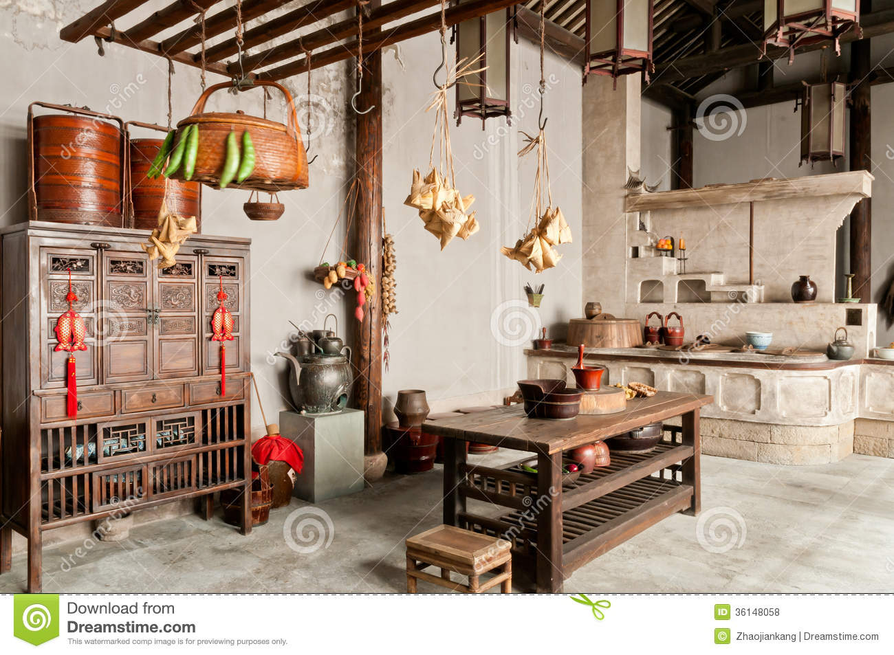 Good China Old Kitchen Furnishings