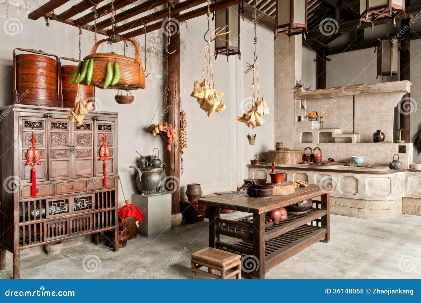 China old kitchen furnishings royalty free stock photos image