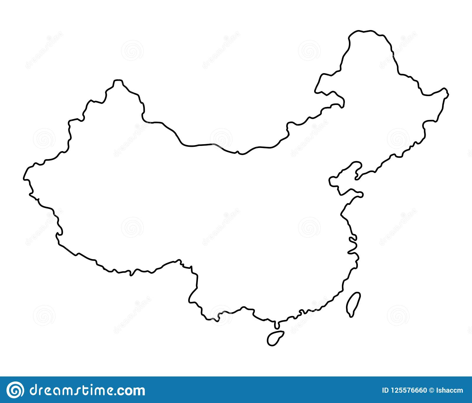 China Outline Map Vector Illustration Stock Vector Illustration Of