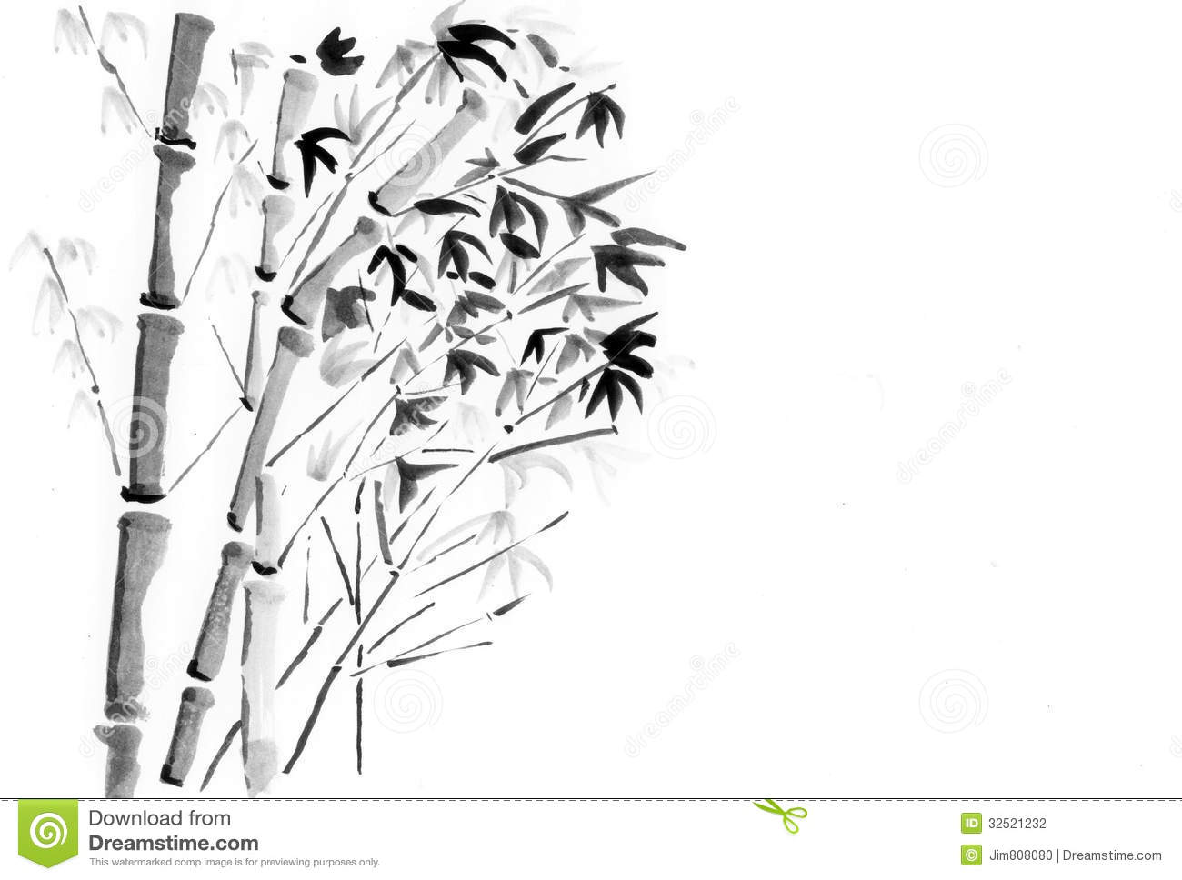 China Painting Bamboo Stock Photography Image 32521232