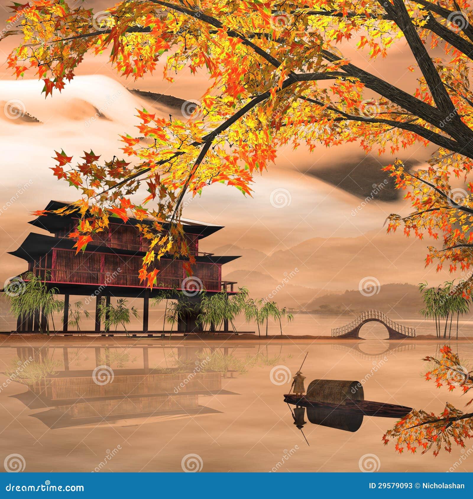 China Painting Style Landscape Stock Photos Image 29579093