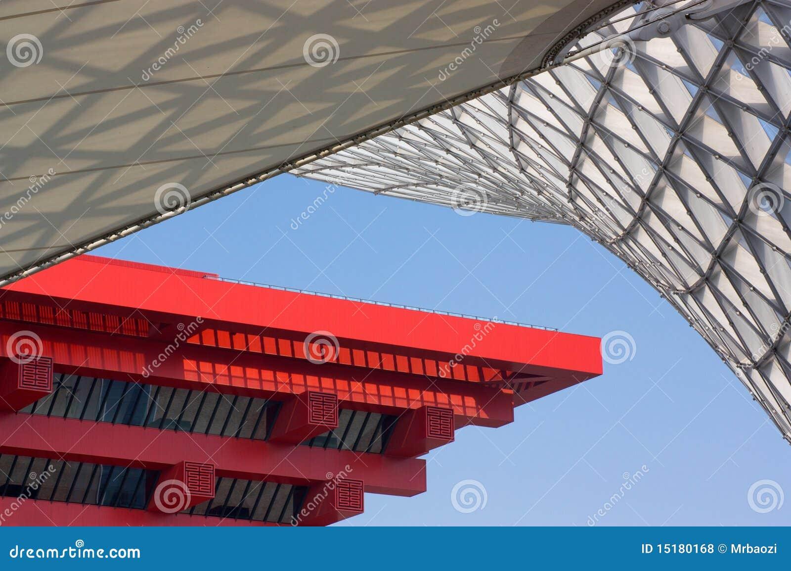 China-Pavillion-und Ausstellungs-Mittellinie