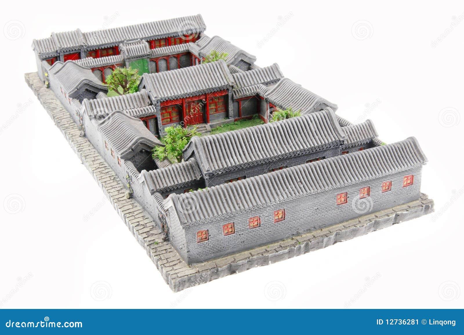 China S Courtyard Model Stock Image Image 12736281