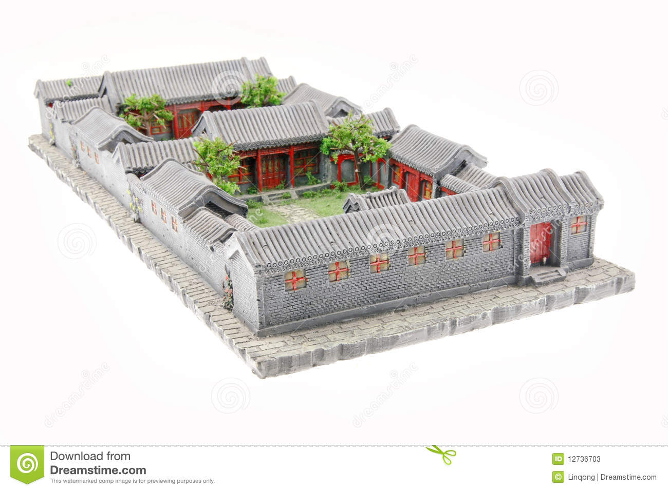 Traditional Japanese Home Floor Plan China S Courtyard Model Stock Photos Image 12736703