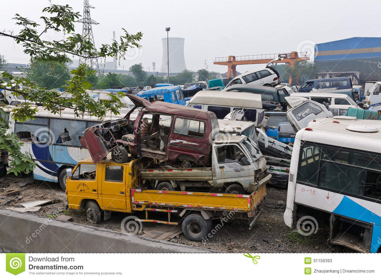 China Scrapped Many Of The Cars Pile Up Editorial Stock Photo ...