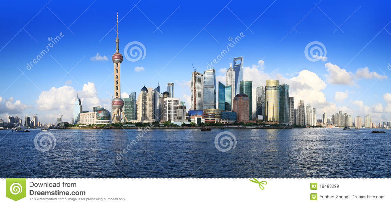 China shanghai panorama
