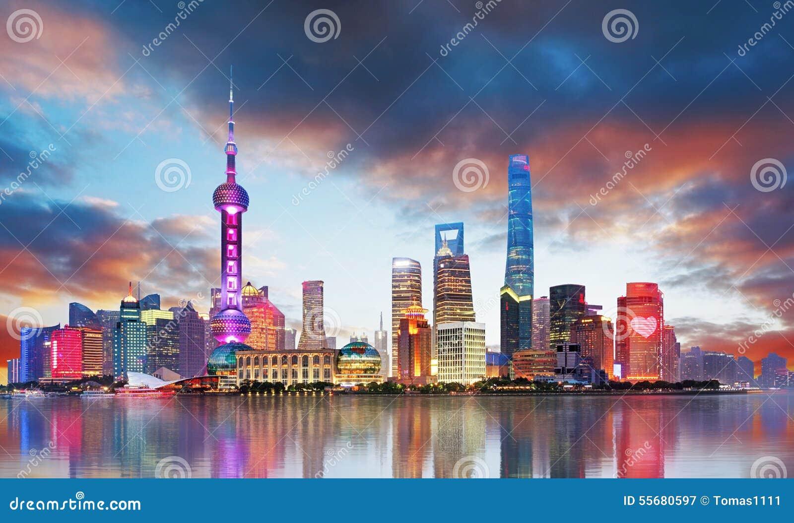 China - Shanghai skyline