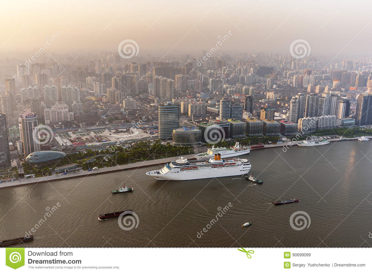 China, Shanghai. View from the Oriental Pearl Tower