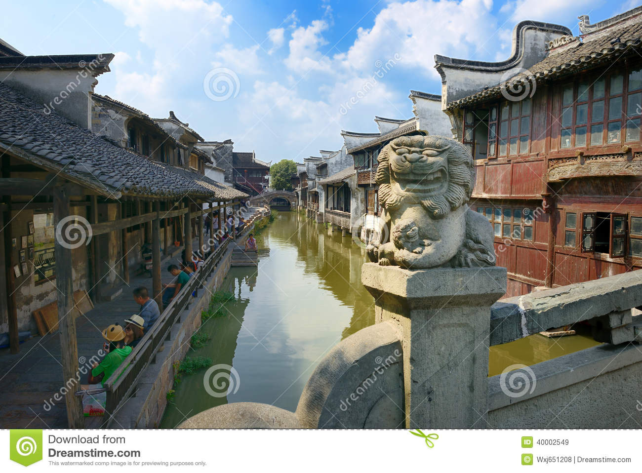 China,Shanghai Water Village Wuzhen 1 Editorial Stock Image - Image: 40002549
