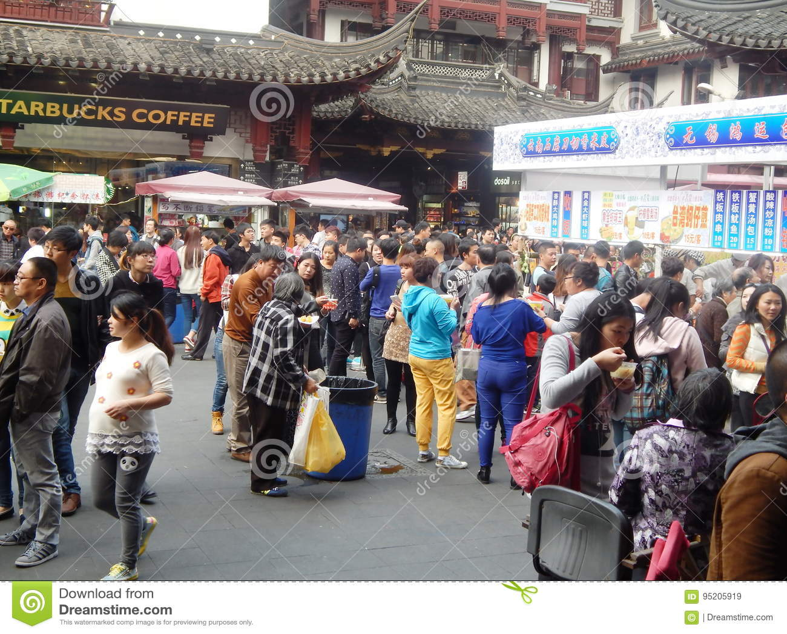 China Shanghai Yuyuan Garden Street Food Editorial Stock Image