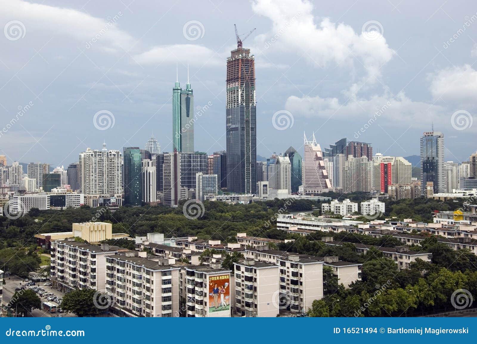 China, Shenzhen city skyscrapers