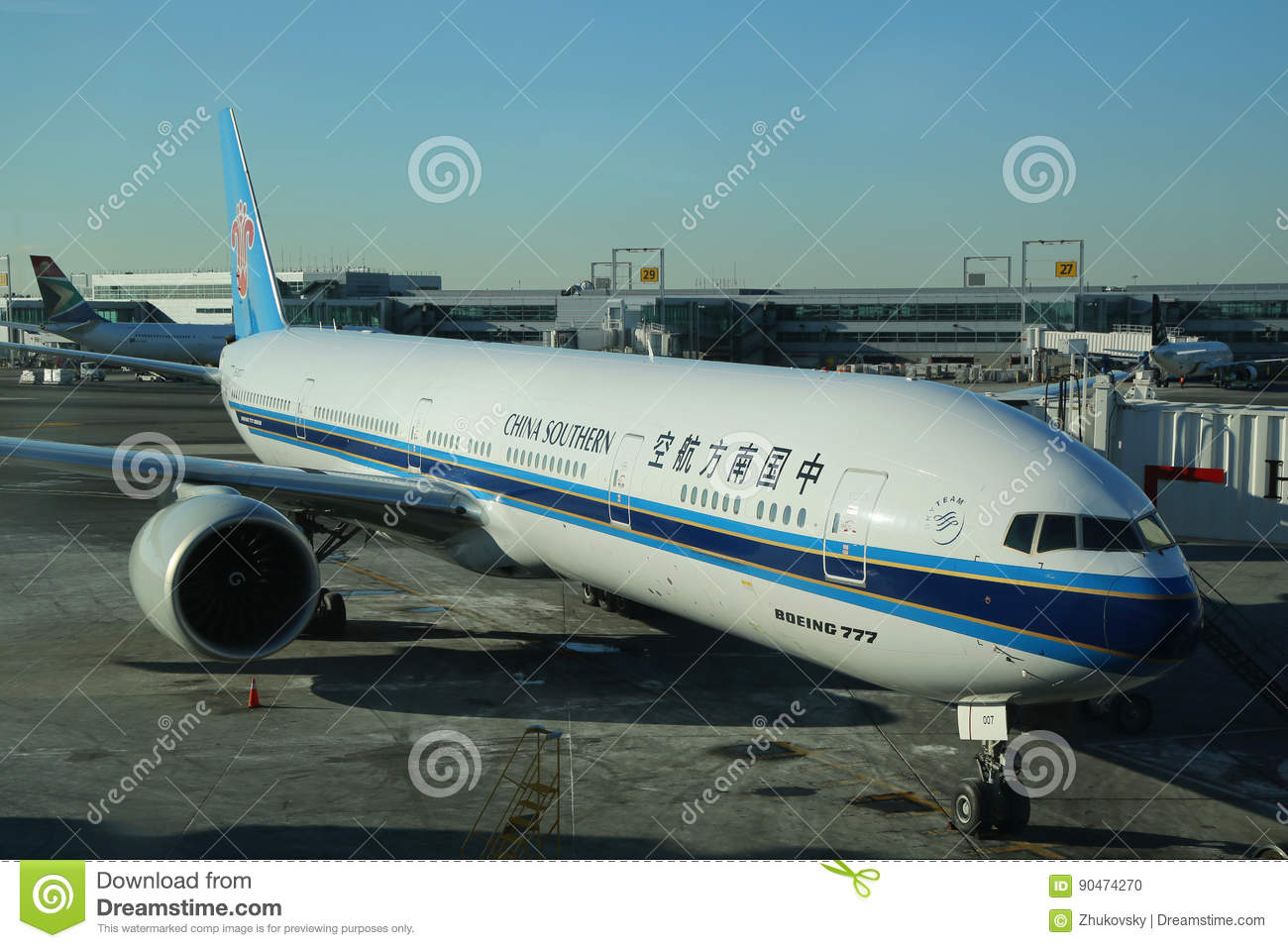 China Southern Boeing 777 on tarmac