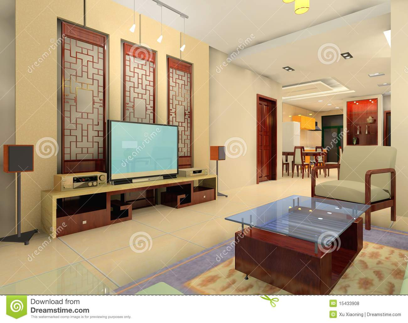China style living room