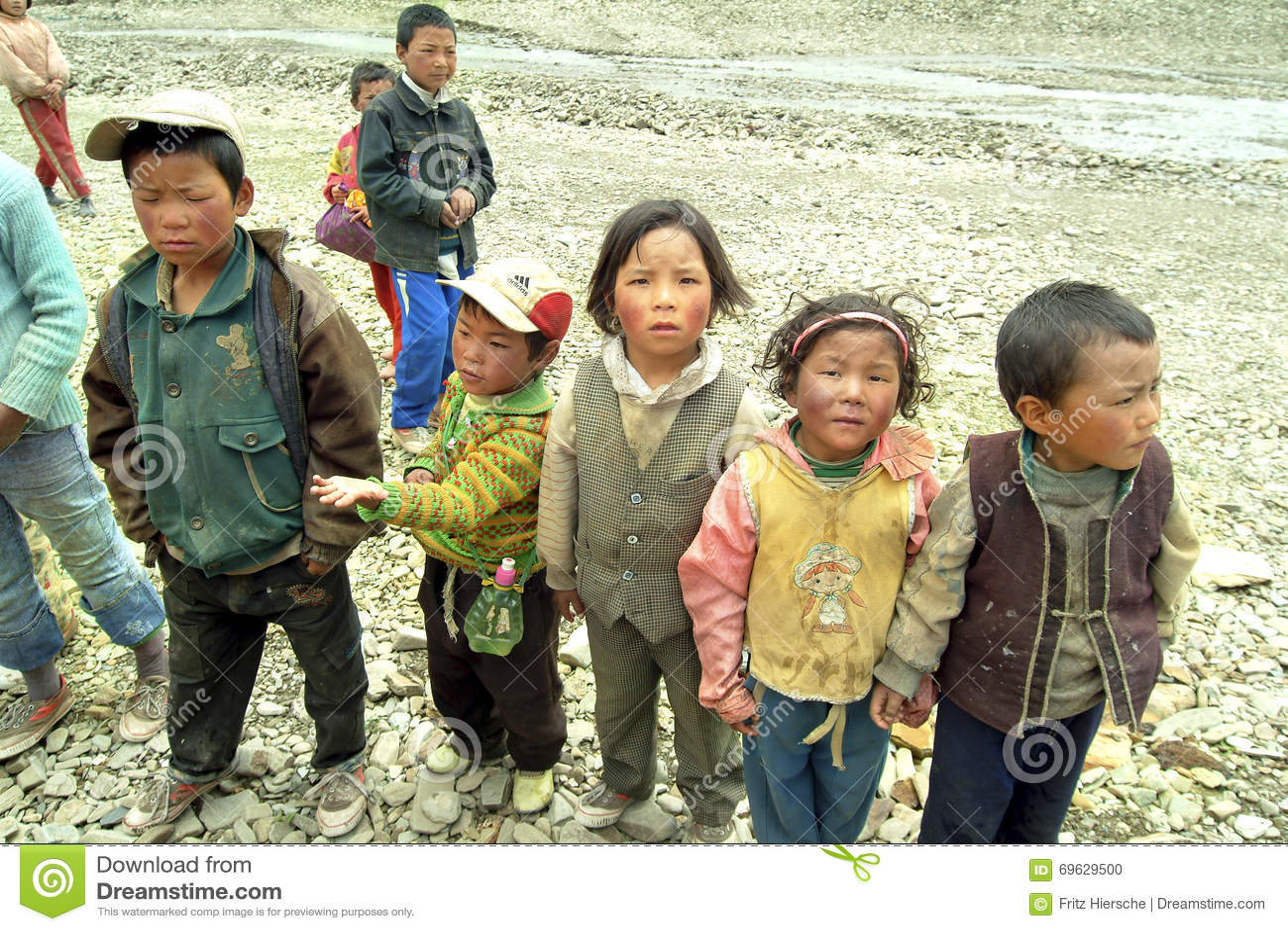 China, Tíbet, gente