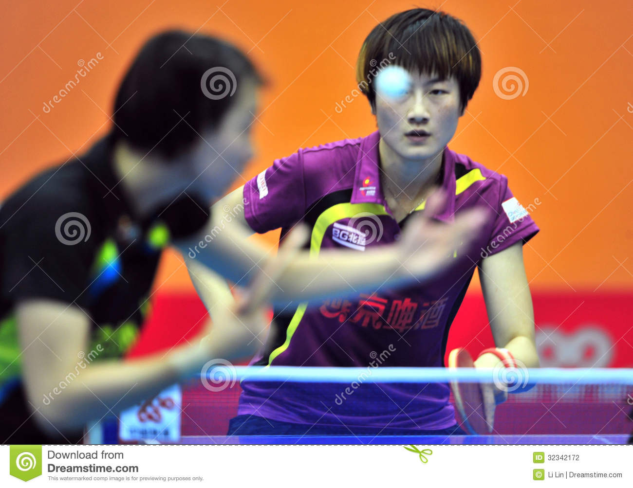 China Table Tennis Super League Editorial Photography