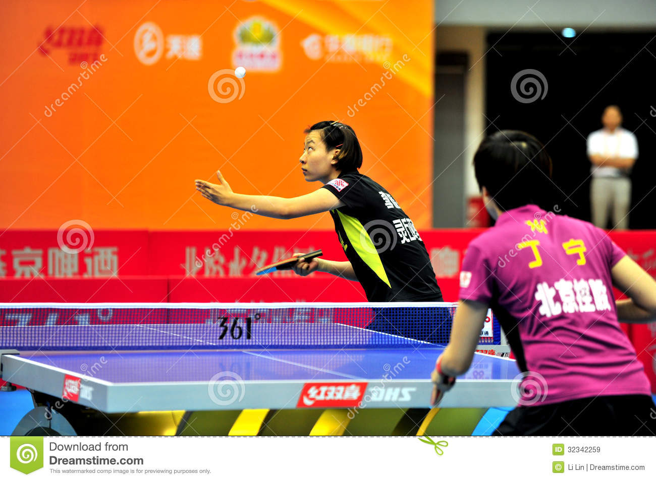 China Table Tennis Super League Editorial Stock Image