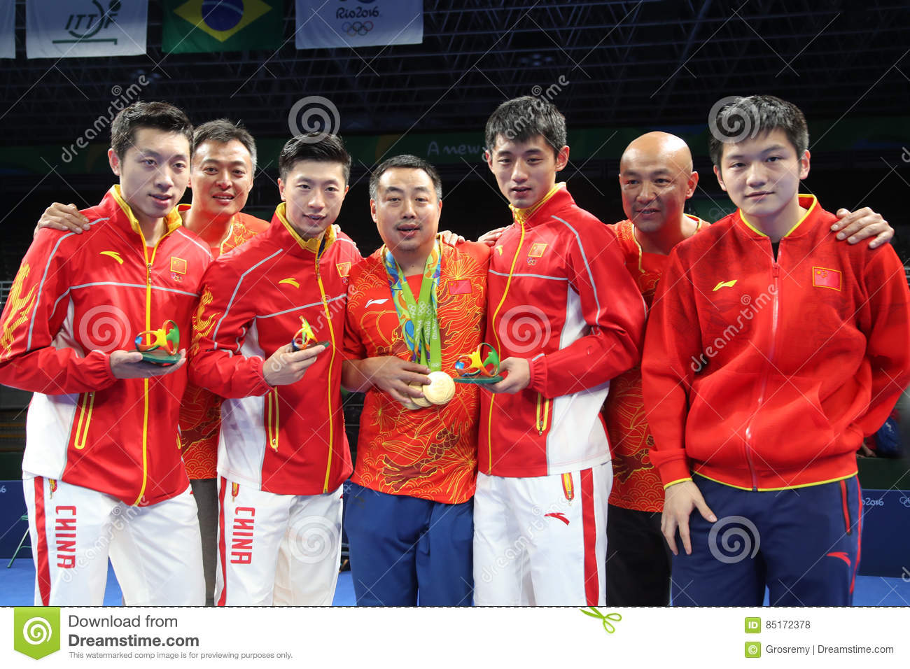 China team Olympic Champion in Rio 2016.