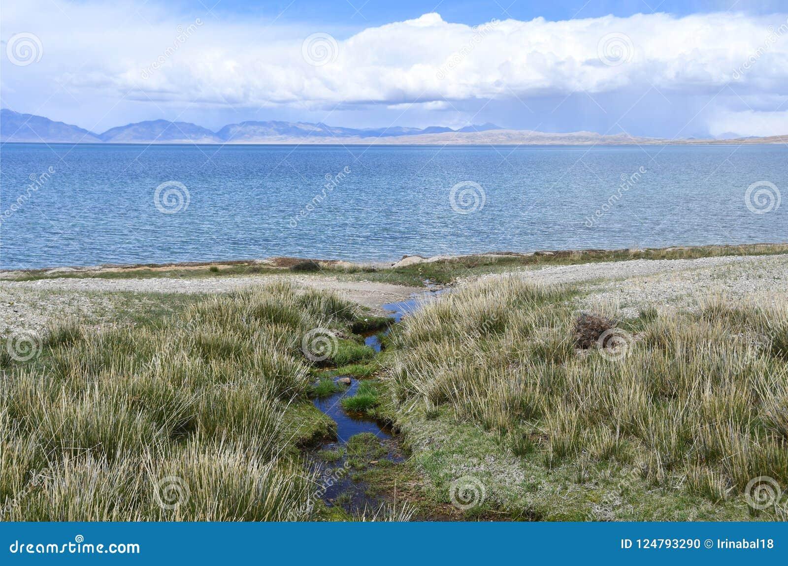 China, Tibet, holy lake Manasarovar