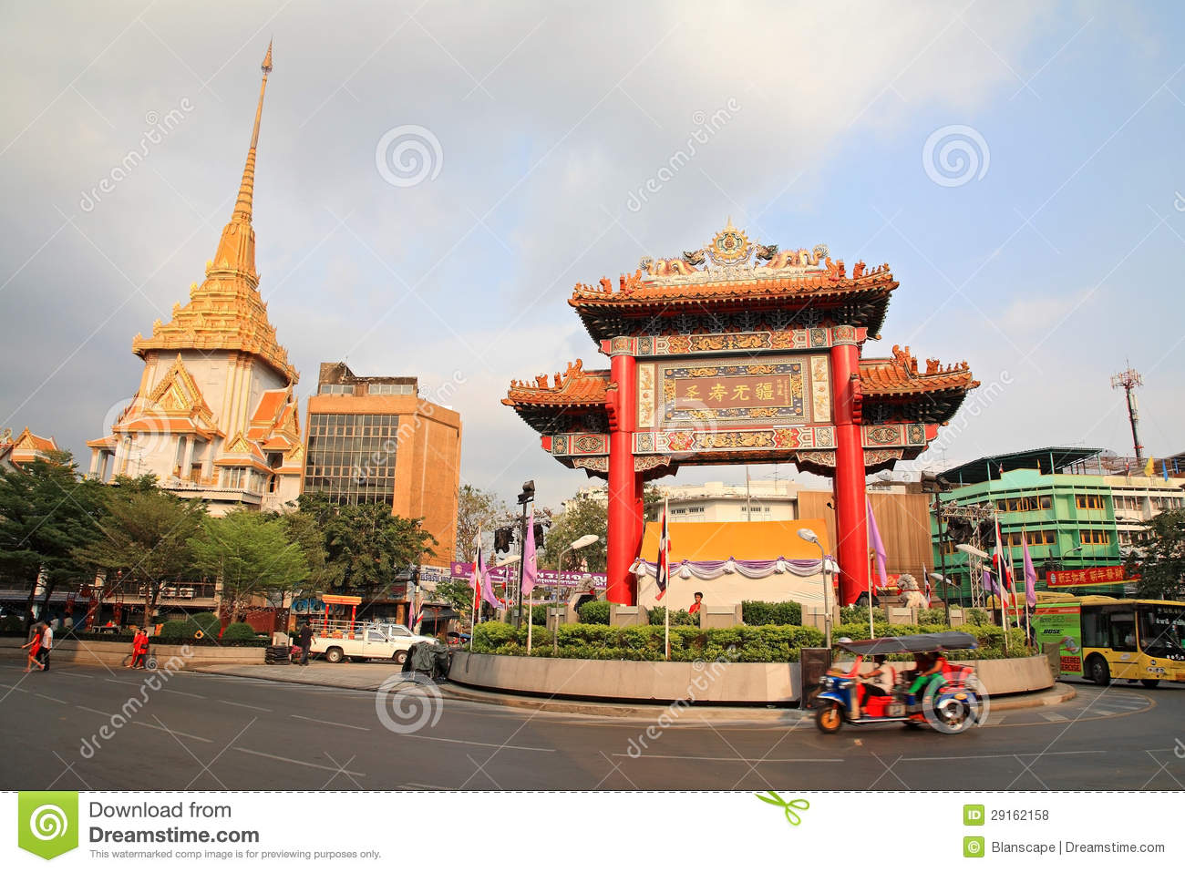 China Town Gateway Arch, Called Odeon Circle Editorial ...
