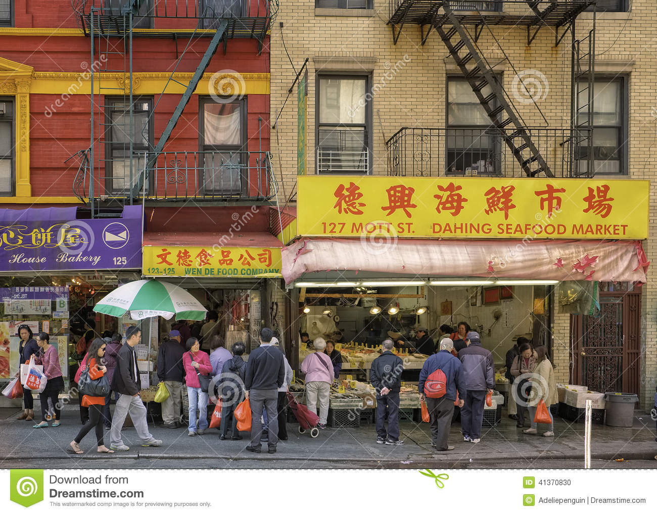China town manhattan new york city editorial image for Fishing store nyc