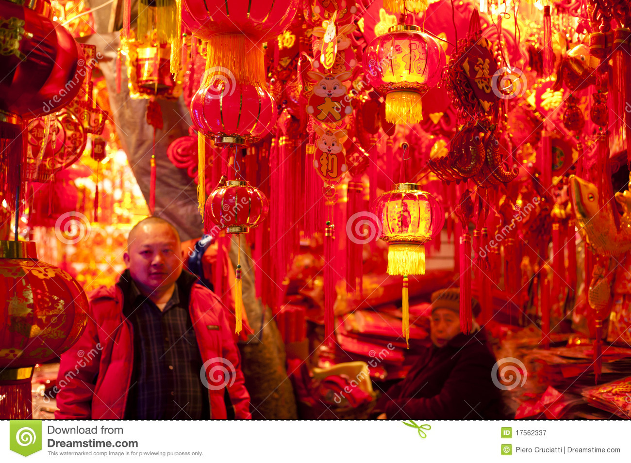 china traditional paper lantern shop
