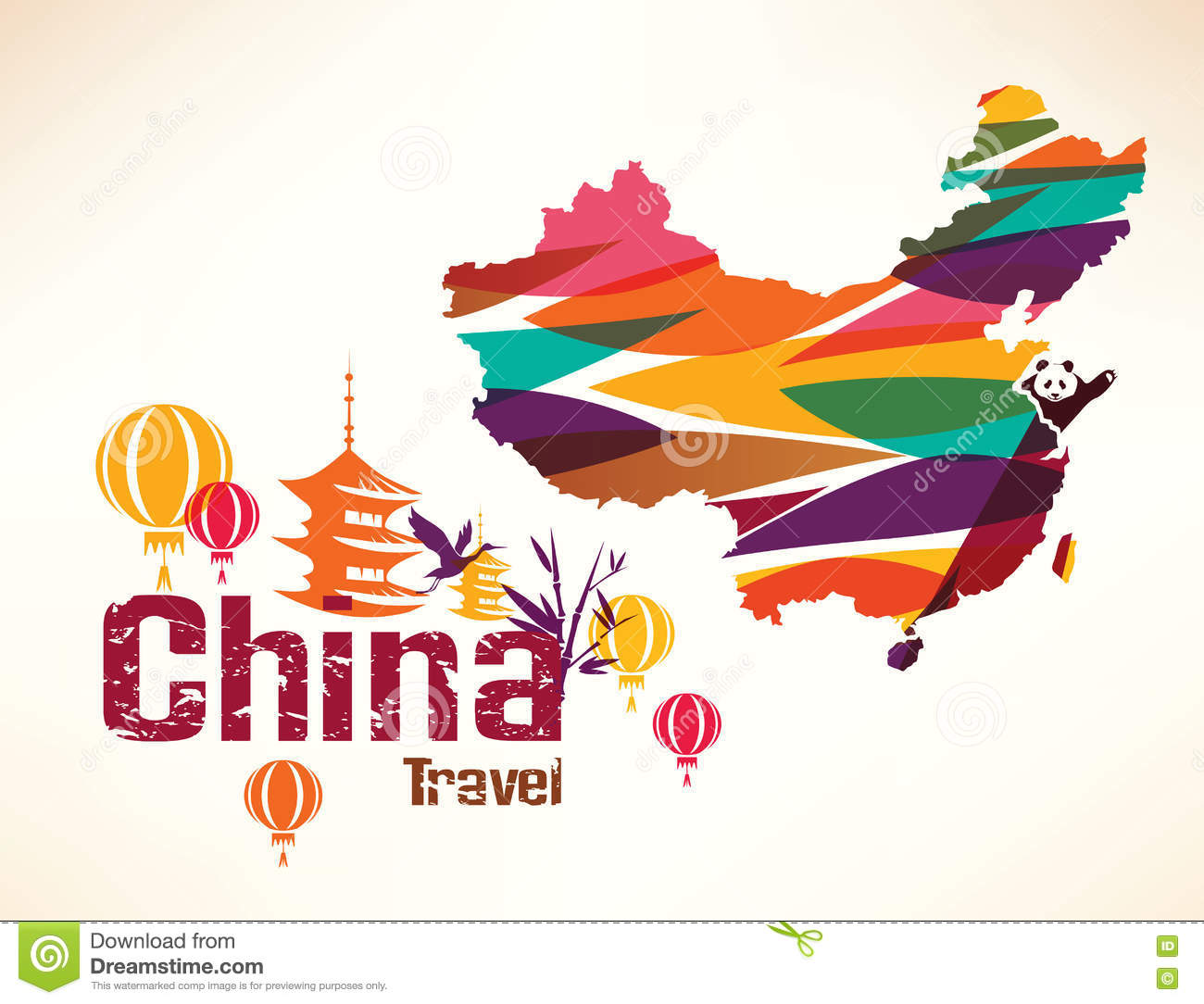 China travel background