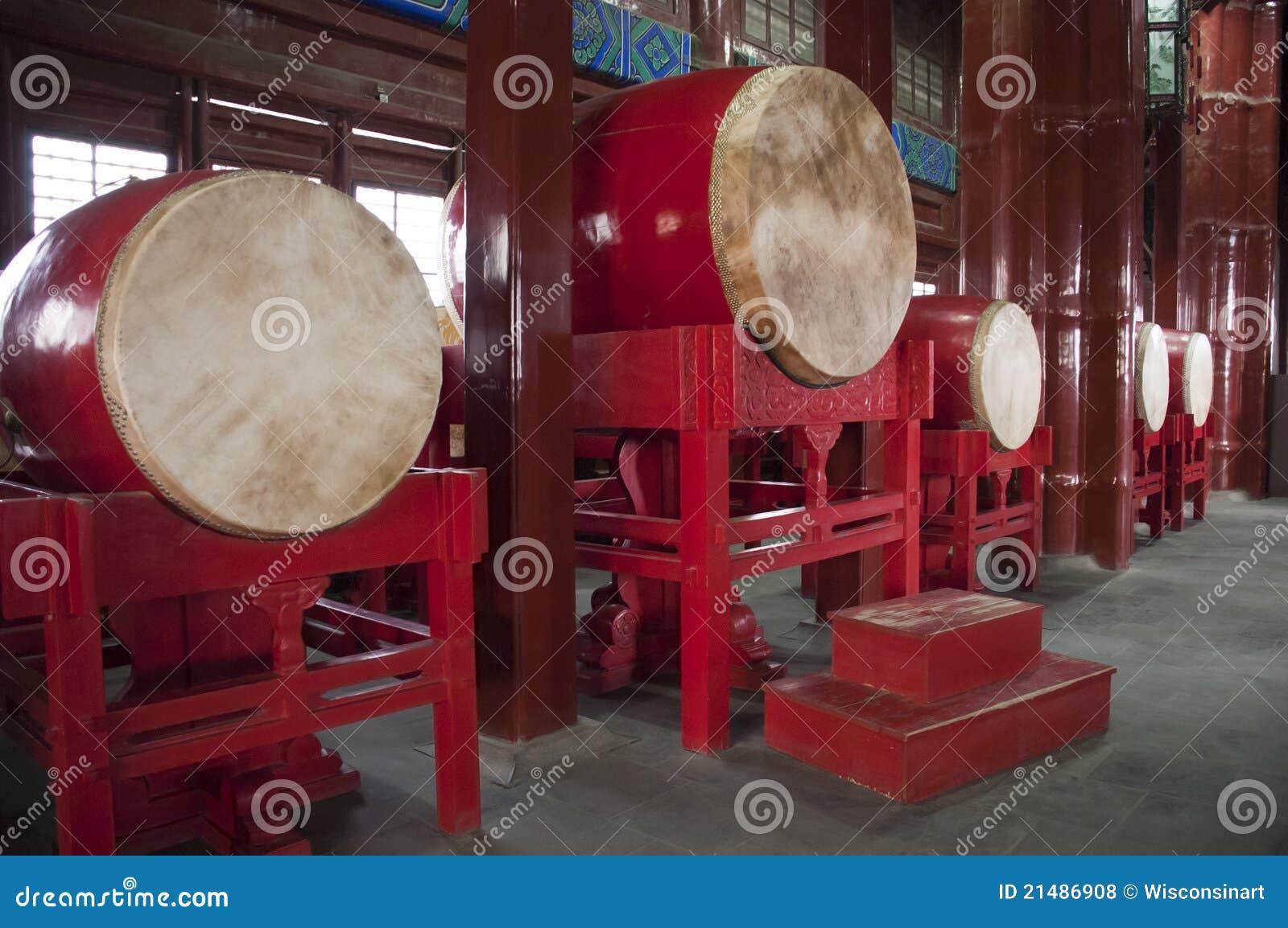 China Travel, Drum In Chinese Drum Tower Stock Photo ...