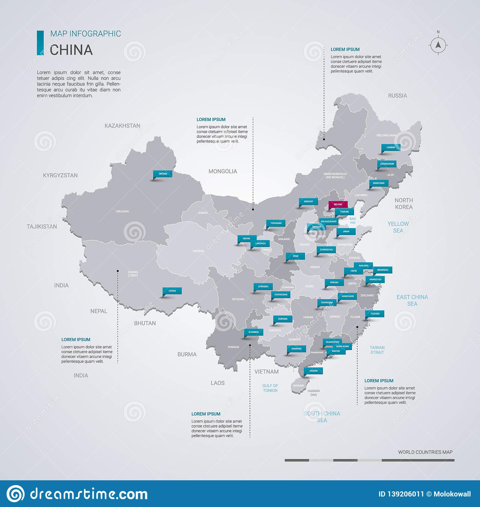 Capital Of China Map on