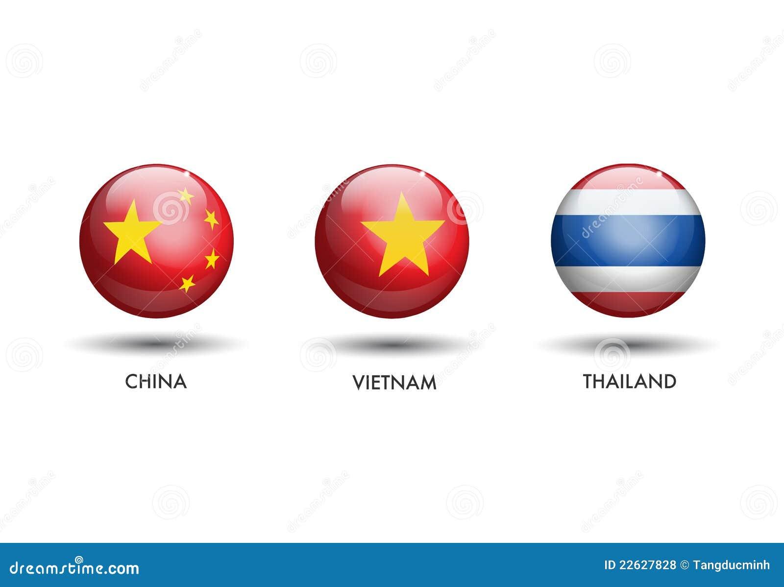 China Vietnam Thailand Flag Royalty Free Stock Photos - Image ...