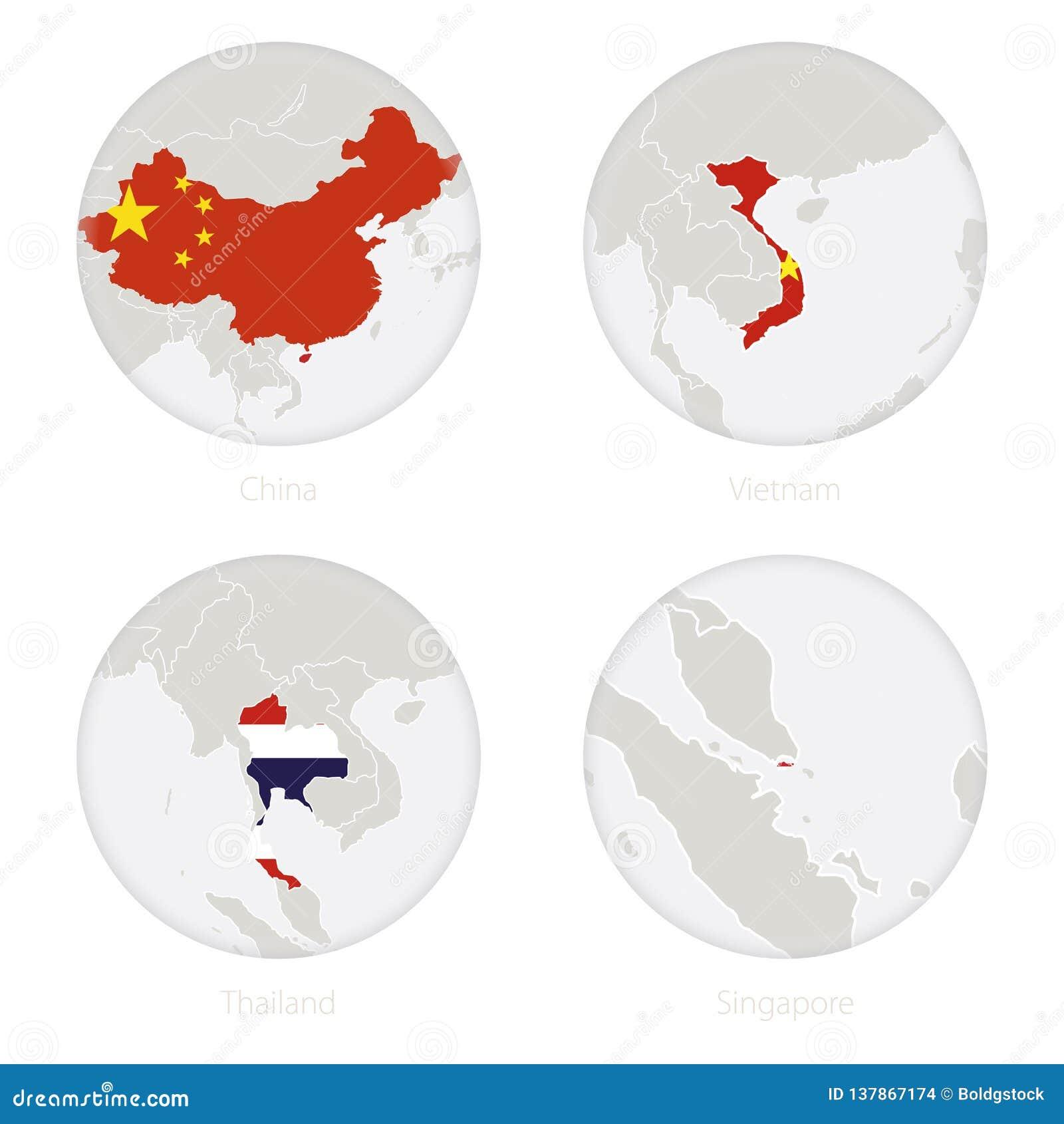 China, Vietnam, Thailand, Singapore Map Contour And National ... on vietnam flag borders, south korea map, vietnam tour, indonesia map, vietnam travel guide, indochina map, vietnam border 17 feb 1979, vietnam forest, east asia map, vietnamese map, southeast asia map, austria and czech republic map, swaziland map, vietnam war, vietnam t-55 tank, vietnam dog trade, us mexico border fence map, malaysia map, argentina map, da nang map,